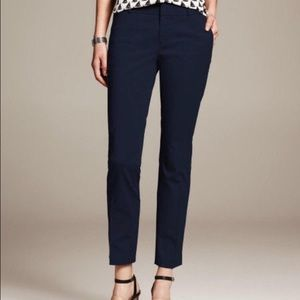 Banana Republic Navy Hampton Pants